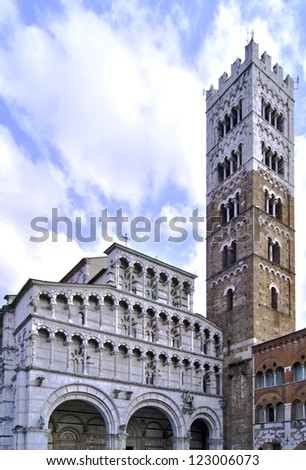 HDR elaboration of Cathedral of St Martin in Lucca, Italy.