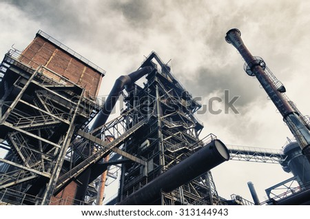 HDR filtered image of the Landschaftspark Duisburg-Nord, a public park in the German city of Duisburg. The centerpiece of the park is formed by the ruins of a blast furnace complex shut down in 1985.