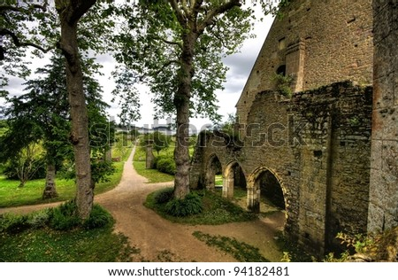 HDR image from ruins of the abbey of beauport in france