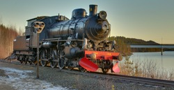 HDR image of a historic locomotive in Kusfors in Sweden.