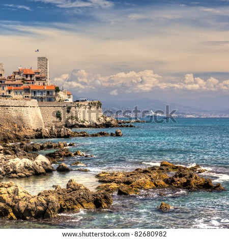 HDR image of Antibes on the Cote d'Azur