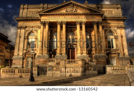 HDR image of County Sessions House in William Brown Street, Liverpool, England