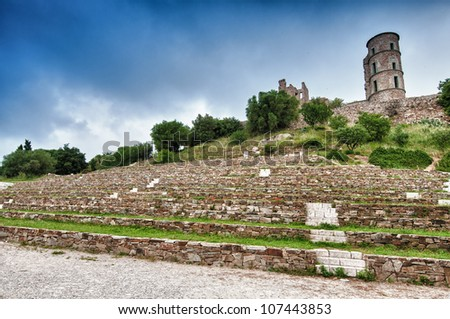 hdr image of fortress grimaud