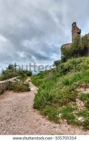 hdr image of fortress of grimaud
