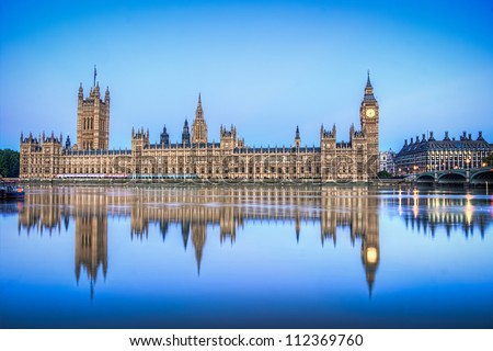 Hdr image of Houses of parliament england