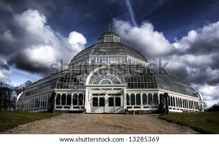 HDR image of Sefton Park Palm house Liverpool, England, Grade 2 listed building