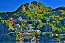 HDR image of The Battery, St John's, Newfoundland taken at sunrise.