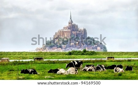 HDR image of the Mont Saint Michel in France