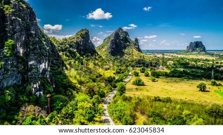 HDR Mountain Cha Am Phetchaburi Thailand