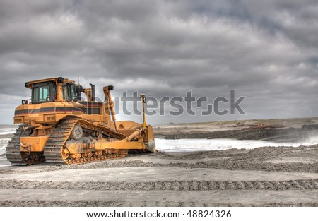 HDR of a Bulldozer ready for action