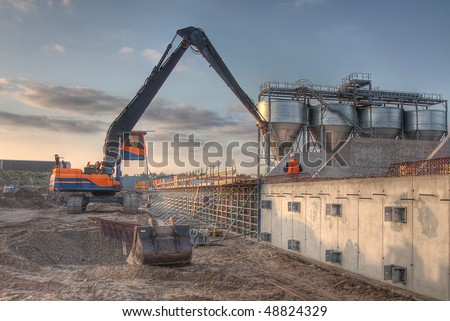 HDR of an Excavator
