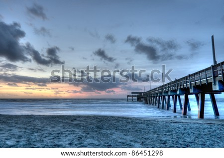 HDR of Tybee Beach in Savannah