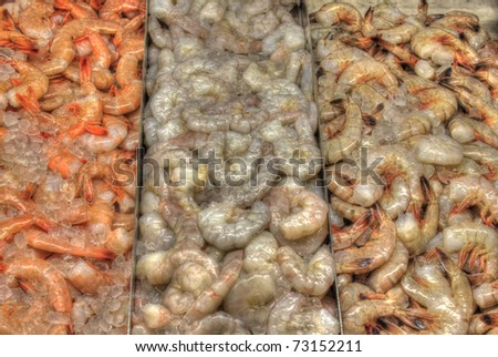 HDR Photo of a pile of shrimp