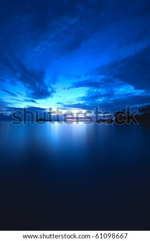 HDR Sunset in Thailand! - stock photo