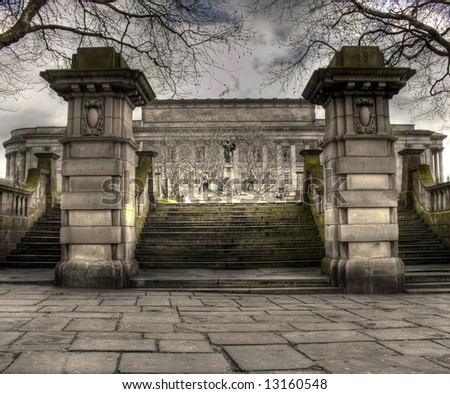 HDR view of St Georges Hall Liverpool, UK - stock photo