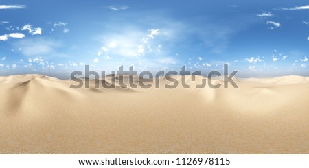 HDRI, environment map , Round panorama, spherical panorama, equidistant projection, land under heaven 3D rendering