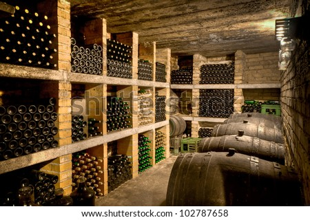 HDRI of a wine cave