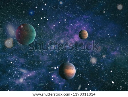 he explosion supernova. Bright Star Nebula. planets, stars and galaxies in outer space showing the beauty of space exploration. Distant galaxy. Abstract image. Elements of this image furnished by NASA #1198311814