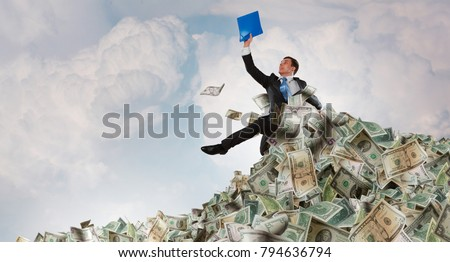 He is a millionaire Stock photo ©