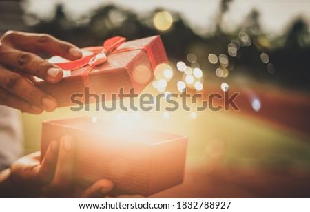 He opened a wonderful gift box christmas day
