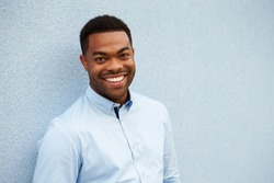 Head and shoulders portrait of young African American man