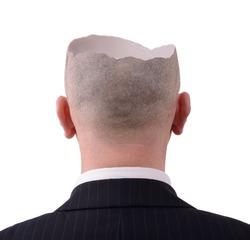 Head crack open to reveal inside
