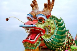 head dragon china festival thailand