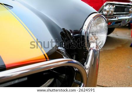 Head lamp of classic car