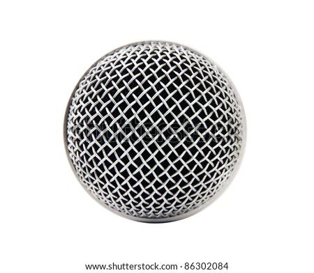 head microphone isolated on white background