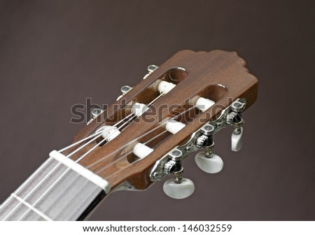 Head of a classical guitar