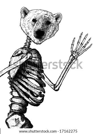 ATU--The Movie, EPISODE I (with epilogue part 1 and 2) -- and EPISODE II -- and EPISODE III -- and EPISODE IV - Page 4 Stock-photo-head-of-a-polar-bear-illustration-on-human-skeleton-waving-17162275