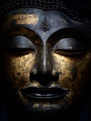 Head of Buddha, Ayutthaya style, 16 th century 500 years ago, National Museum Bangkok Thailand