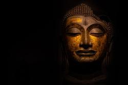 Head of Buddha image used as amulets of Buddhism religion.