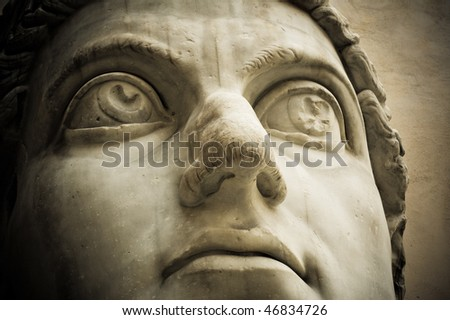 Head Of Emperor Constantine, Capitol, Rome Stock Photo 46834726 ...