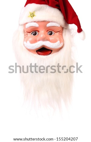 Head of Santa Claus. Isolated on a white background.