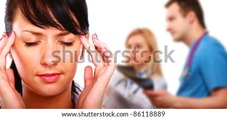 Head pain - stock photo