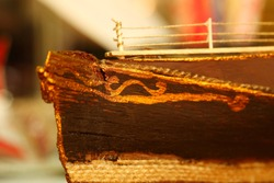 Head part of ship model scene.