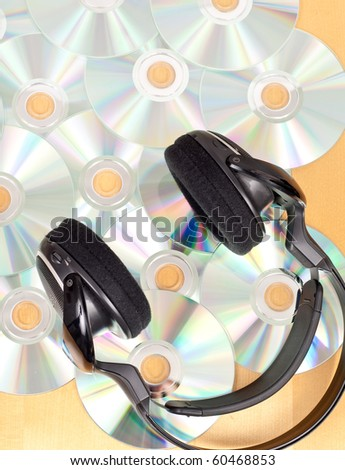 Head Phones and Scattered Music CD's