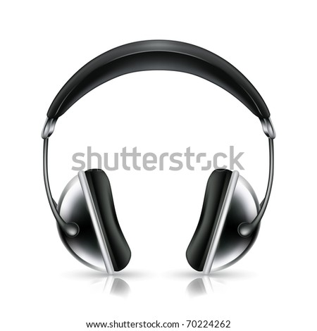 Head phones, bitmap copy - stock photo