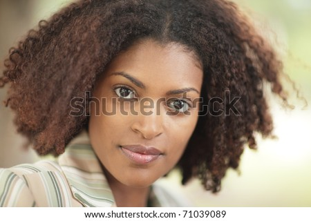 Head shot of an attractive woman