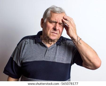 headache. adult man. white background  #565078177