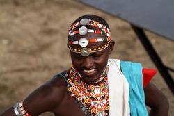 Headdress of a Samburu warrior in Kenya