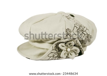 headdress with flower and pearl