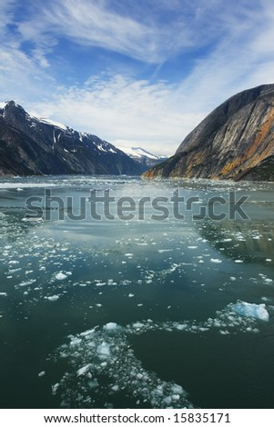 Heading through the ice, away from Dawes Glacier, Endicott Arm, Alaska