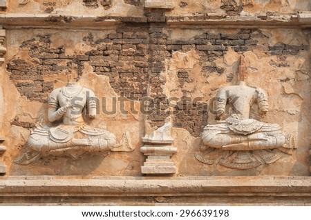 Headless Buddha statues at Wat Jet Yod, Chiang Mai, Thailand Zdjęcia stock ©