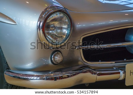 Headlight and bumper for a classic car #534157894