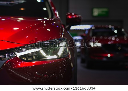 Headlight lamp of new cars,copy space. #1161663334