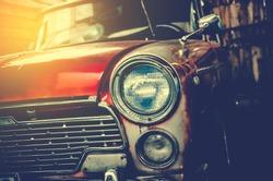 Headlight lamp vintage car