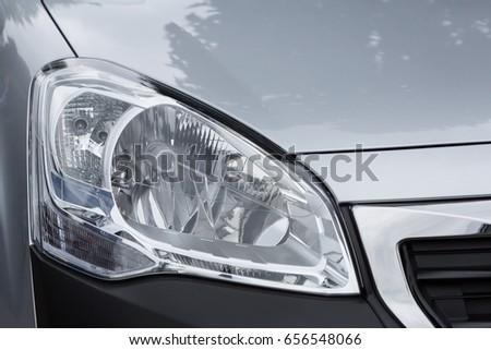 Headlight Of A Modern Car Ez Canvas