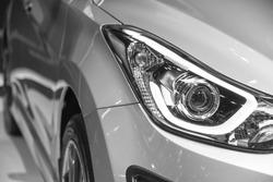 headlight of new automobile